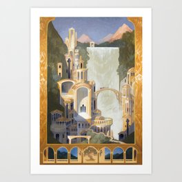 The Elven Refuge Art Print