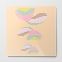 Pastels in abstract Metal Print