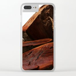 Stacked high against the sky... Clear iPhone Case