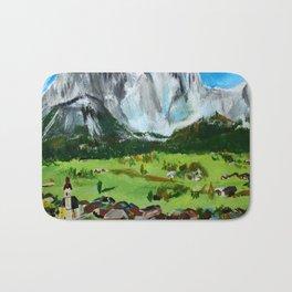 Austria Tyrol Mountains acrylic painting Bath Mat