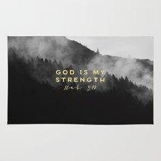 GOD IS MY STRENGTH Rug