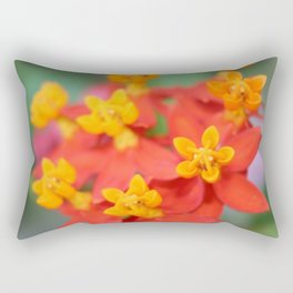 Succulent Red and Yellow Flower III Rectangular Pillow