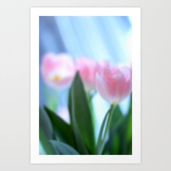 Tulip love Art Print