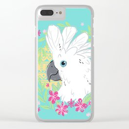 Umbrella Cockatoo Clear iPhone Case