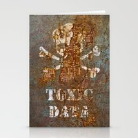 data Stationery Cards featuring Toxic Data by Hans Duenas