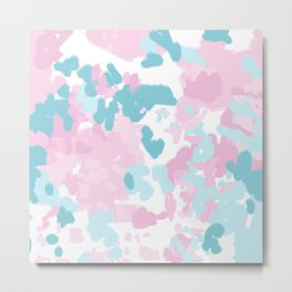 Abstract painted pastel candyland minimal art by charlotte winter Metal Print