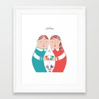 sister Framed Art Prints featuring Sister by Michela Gaburro