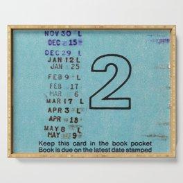 Ilium Public Library Card No. 2 Serving Tray