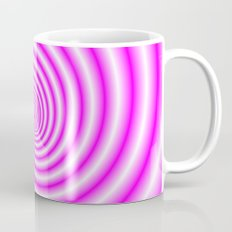 Pink and White Candy Swirl Coffee Mug