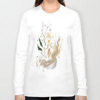 ramen Long Sleeve T-shirts featuring Ramen Xplosion by Jiro Tamase