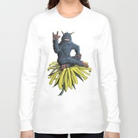 peanuts Long Sleeve T-shirts featuring Monster on Oblique Dandelion by David Comito