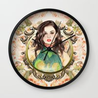 charli xcx Wall Clocks featuring Charli XCX by Share_Shop