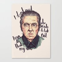 christopher walken Canvas Prints featuring Christopher Walken by Ella Betts