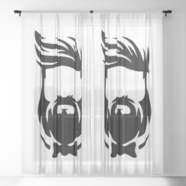 Barber Silhouette 3 Sheer Curtain