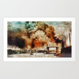 The Blitz, London, WWII Art Print