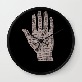 In your hand Wall Clock