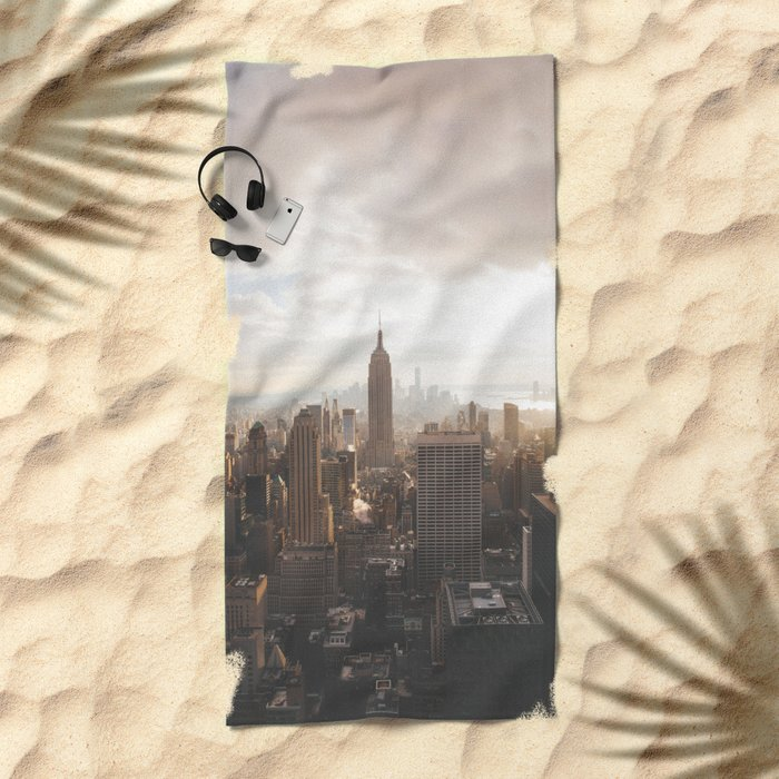 Empire State of Mind Beach Towel