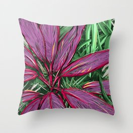Florida  Tropical Colors Throw Pillow