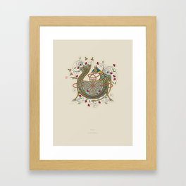 Celtic Initial V Framed Art Print