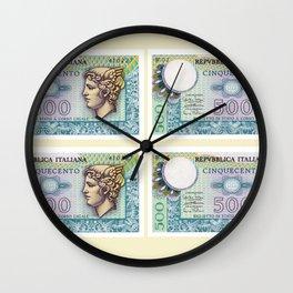 500 lire money note  Wall Clock