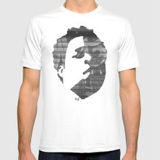 Dynamik Face MEDIUM White Mens Fitted Tee