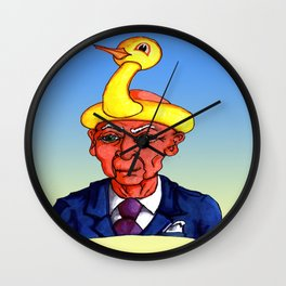 Inflatable Duck Hat! Wall Clock