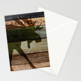 The Moose Shadow Stationery Cards