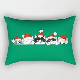 Christmas Kittens Rectangular Pillow