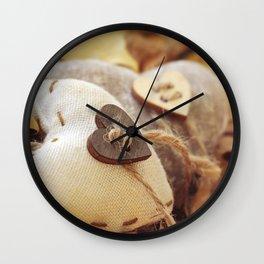 Hearts   Coeurs Wall Clock