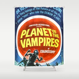 Planet of the Vampires, 1965 (Vintage Movie Poster) Shower Curtain