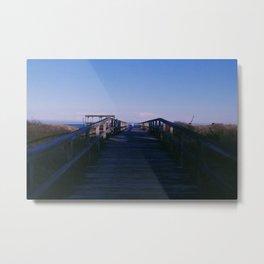 Boardwalk on the Shore Metal Print