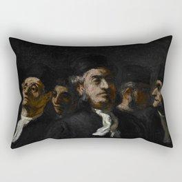 """Honoré Daumier """"A Meeting of Lawyers"""" Rectangular Pillow"""