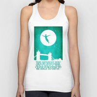 peter pan Tank Tops featuring Peter Pan in London by Chien-Yu Peng