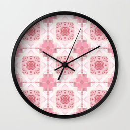 Red Rage Repeat Wall Clock