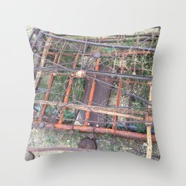 Ghost town rubble Throw Pillow