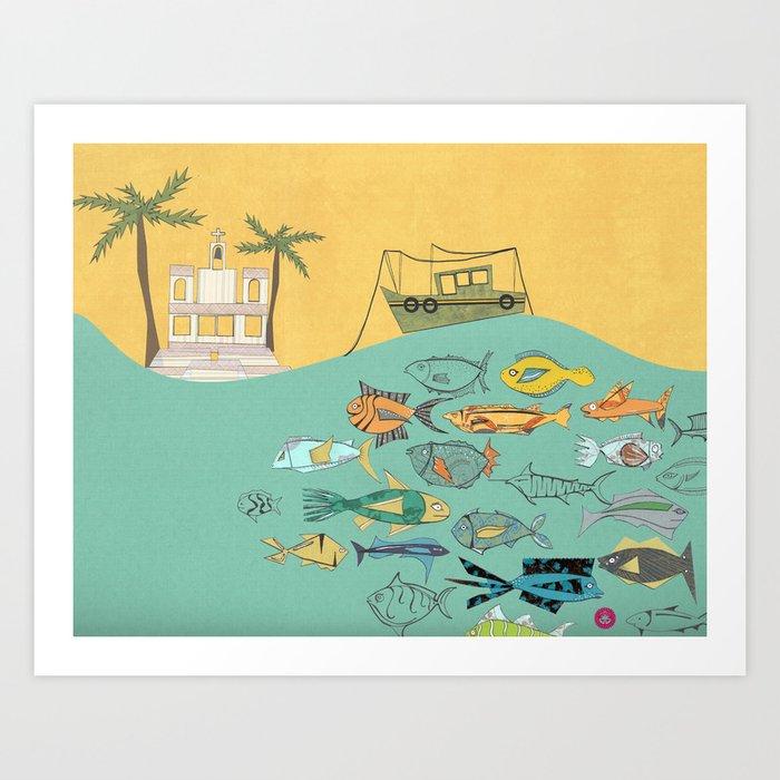Goa - Postcard From India Art Print