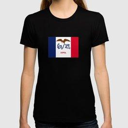 flag of Iowa, america, usa, midwest,Council Bluffs, Iowan,Des Moines,Cedar Rapids,Davenport,sioux T-shirt