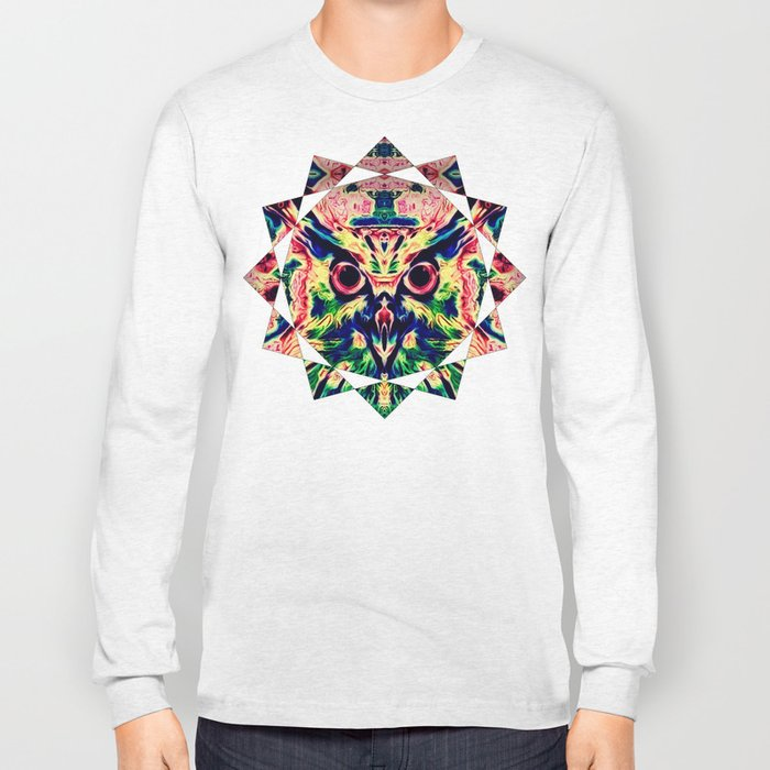 Psychedelic Owl Long Sleeve T-shirt