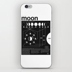Phases of the Moon infographic iPhone Skin