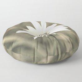 Beautiful Tiny White Flower Floor Pillow