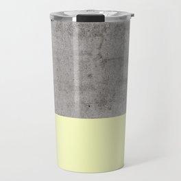 Yellow on Concrete Travel Mug