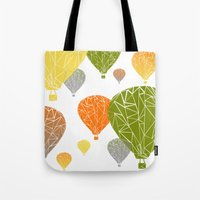 balloons Tote Bags featuring BALLOONS by ARCHIGRAF