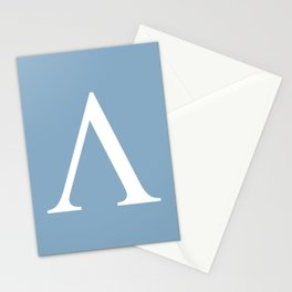 Greek letter lambda sign on placid blue background Stationery Cards
