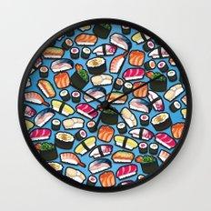 Sushi Blue Wall Clock