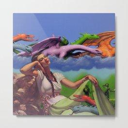 Dragon Dreamer Metal Print