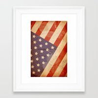 patriotic Framed Art Prints featuring Patriotic  by Cloz000