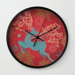 Magic Winter Deer Wall Clock