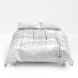 Minimal City Maps - Map Of Phoenix, Arizona, United States Comforters