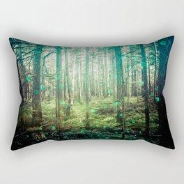 Magical Green Forest - Nature Photography Rectangular Pillow