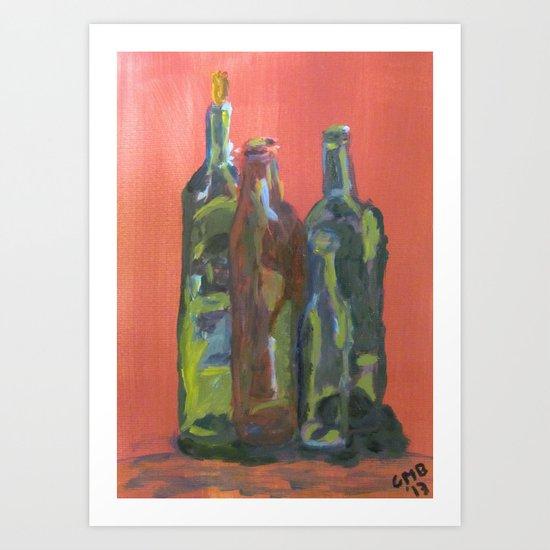 Study of Bottles Art Print